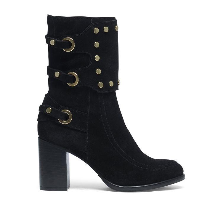 Zwarte laarzen met studs