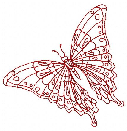 Butterfly 30 machine embroidery design. Machine embroidery design. www.embroideres.com