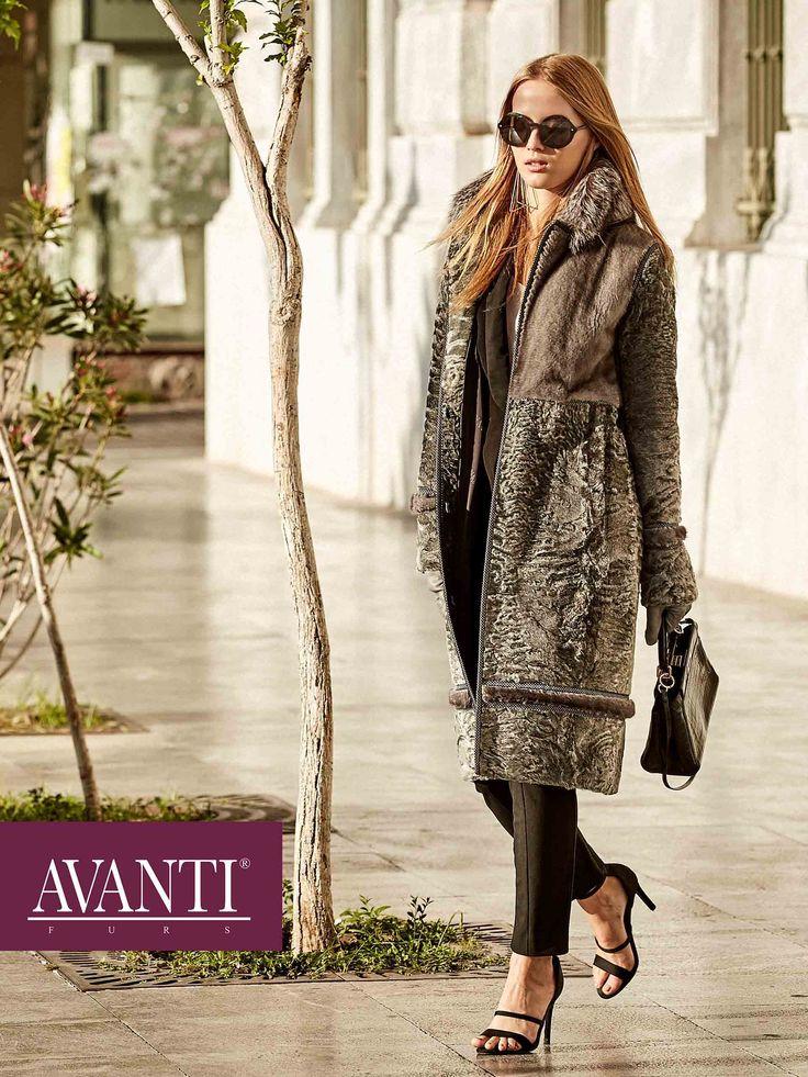 AVANTI FURS - MODEL:UTOPIA NEW SWAKARA JACKET with Fox Blue Frost and Mink Blue Iris details  #avantifurs #fur #fashion #swakara #luxury #musthave #мех #шуба #стиль #норка #зима #красота #мода #topfurexperts