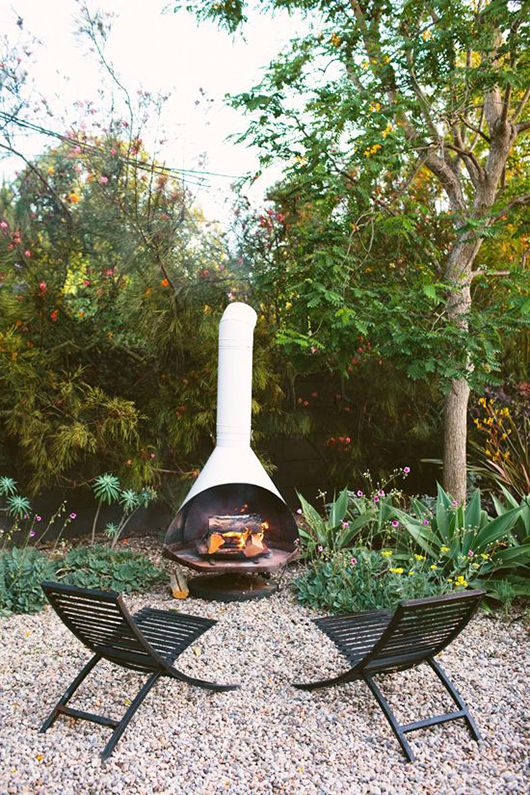 dream house: outdoor fireplace.