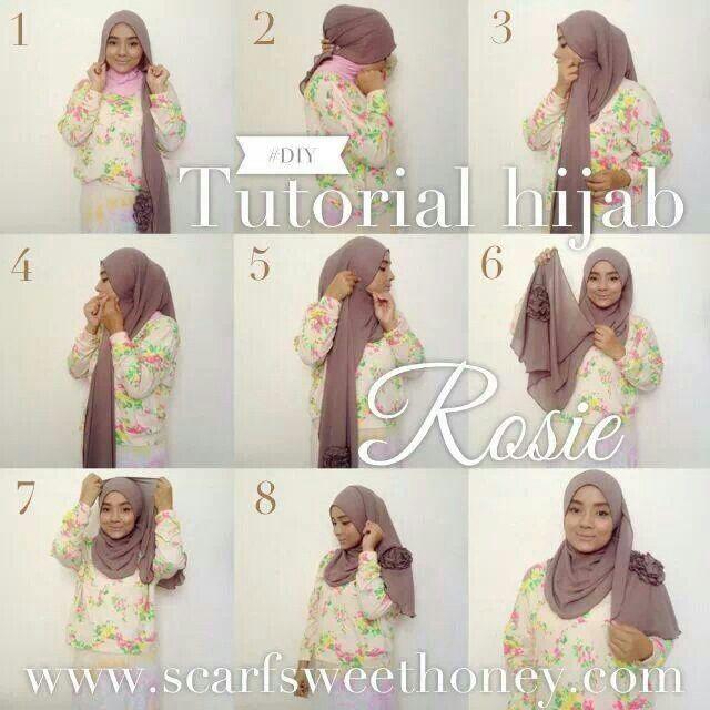 Malaysian Hijab ( Tudung ) tutorial by Scarf Sweet Honey