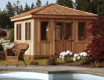 10' square gazebo. All Season Gazebos, Enclosed Gazebos, Backyard Gazebo Kits, Contemporary Designs & Plans by Cedarshed Industries