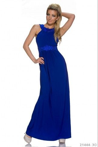 Εντυπωσιακό μάξι φόρεμα - Μπλε Ρουαγιάλ