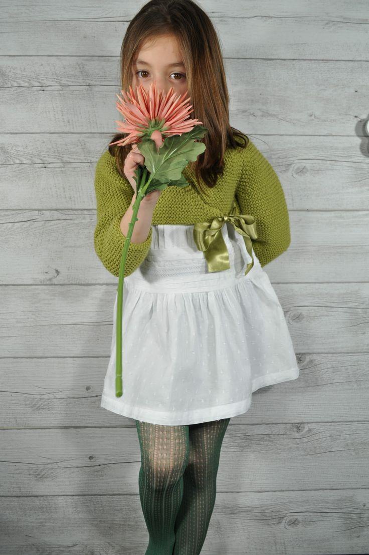 Medias caladas color verde musgo