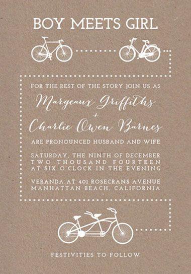 Bicycle Love Wedding Invitations | Green Wedding Shoes Wedding Blog | Wedding Trends for Stylish + Creative Brides
