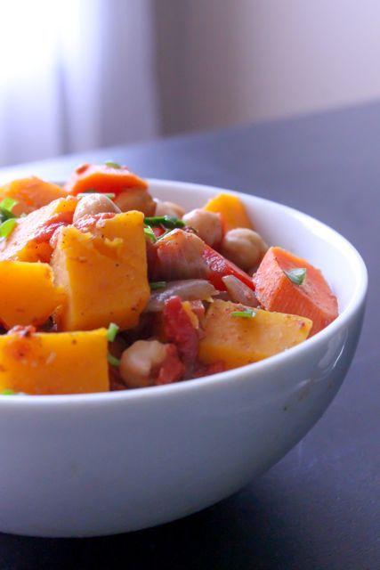 Calabaza, zanahoria y garbanzos al estilo moro
