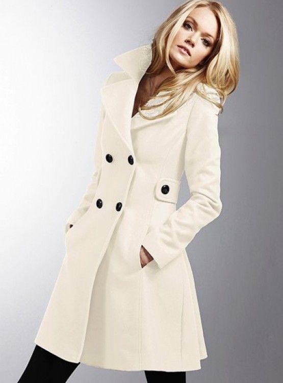 love the idea of a white pea coat