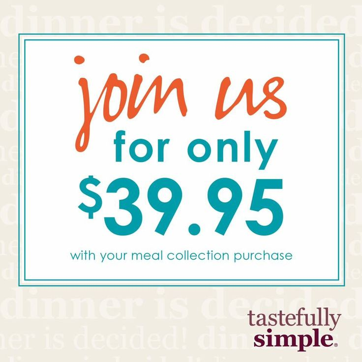 80 best Tastefully Simple -The Why images on Pinterest ...