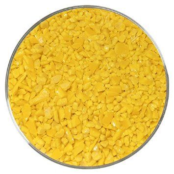 Sunflower Opalescent Coarse Frit - 96COE - 4oz - Made from Spectrum System 96 Glass
