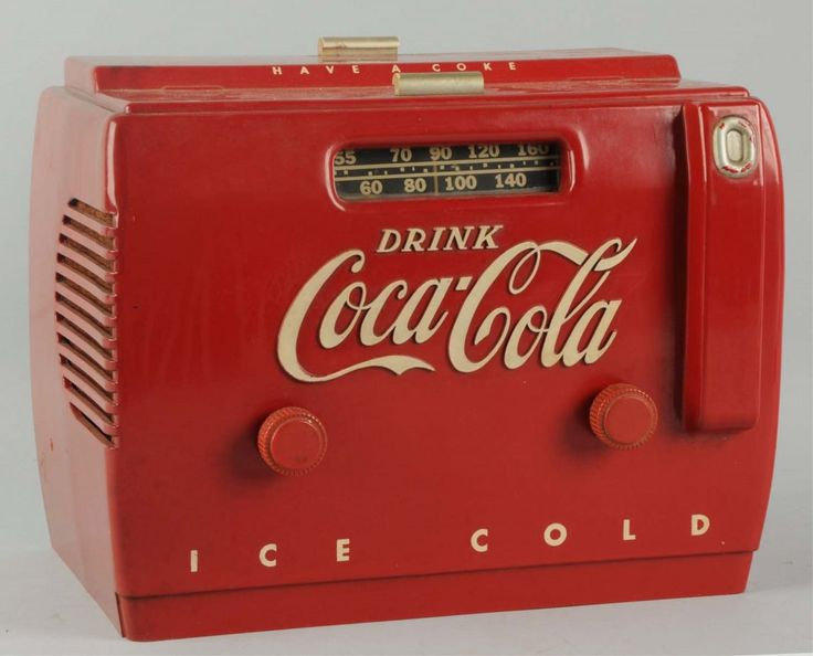 1950's Coca-Cola Cooler Radio.