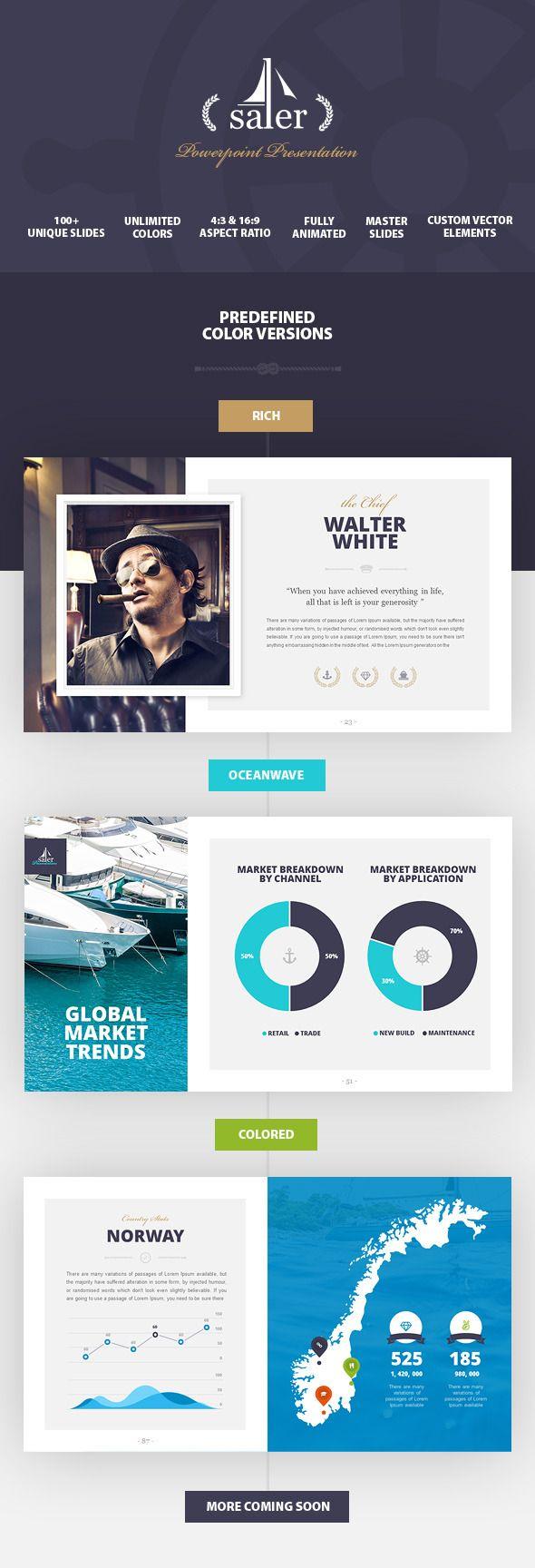Salor - Powerpoint Presentation Template  #portfolio #ship #shipping #stylish #yacht #$15