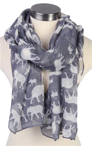 elephant print scarf - debshops.com