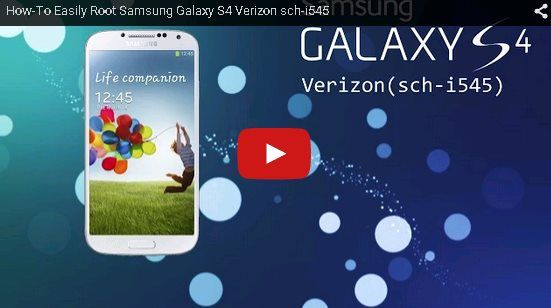 How-To Easily Root Samsung Galaxy S4 Verizon sch-i545. https://www.youtube.com/watch?v=6wEMfw_HKPc