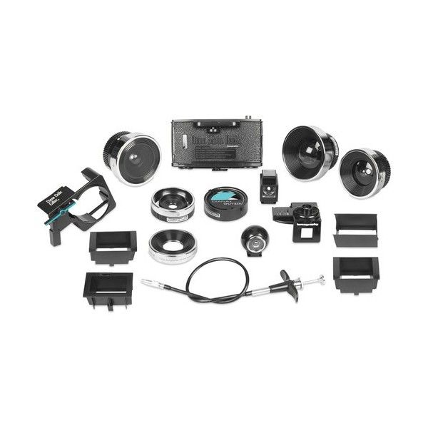 #Diana F+ Accessory Kit Combining all of the available accessories into one box, the Diana F+ Accessory Kit from Lomography includes an assortment of lenses, a film back, and other useful tools to enhance working with your Diana F+ toy #camera.