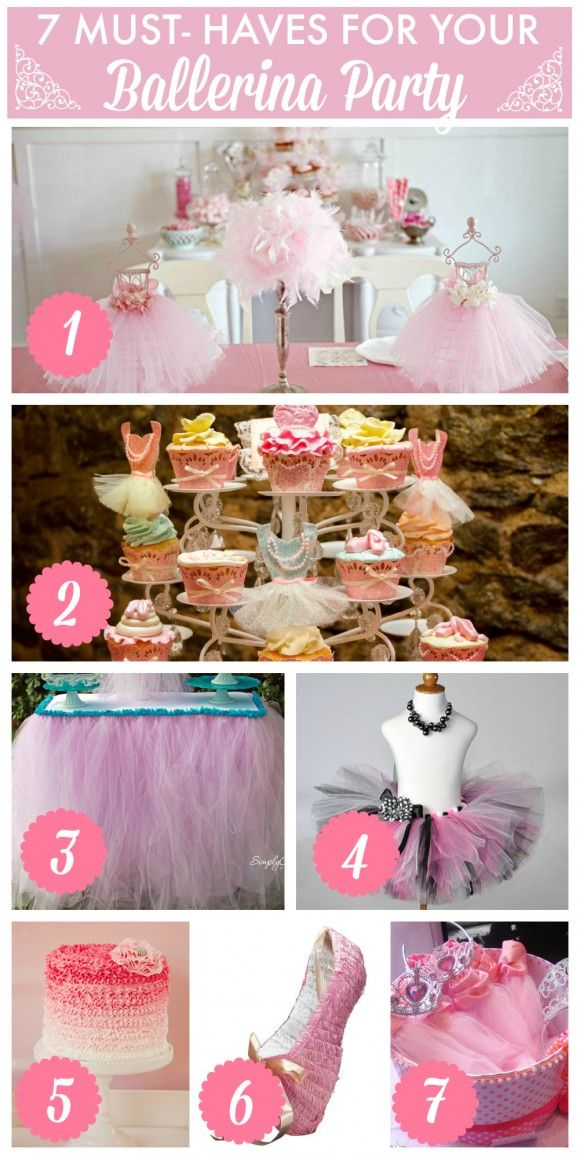 7 must-have party ideas for your ballerina girl birthday party! | CatchMyParty.com