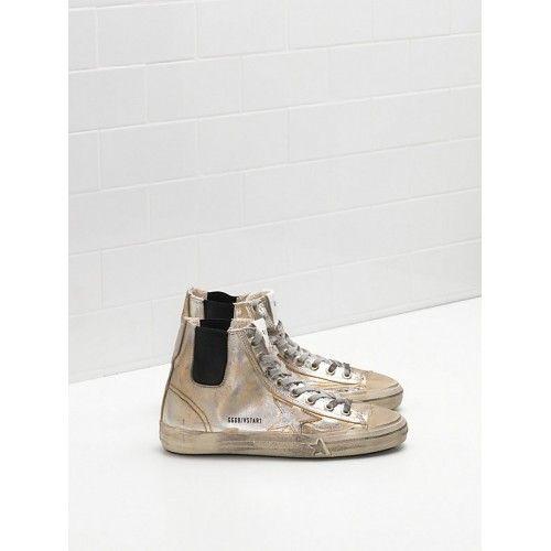 Saldi 2017 GGDB Golden Goose V-STAR 1 Donna Sneakers Grigio - Scarpe Golden Goose V-Star Donna