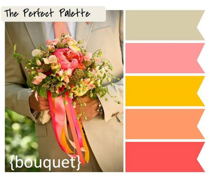 {Palette Inspiration}: A Color Palette of Coral, Peach, Pink, Tangerine and Taupe