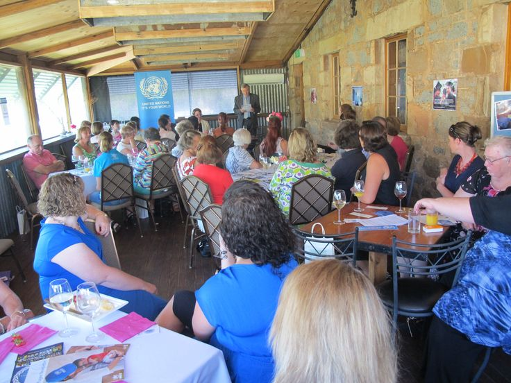 UNIC Director speaking at International Women's Day luncheon during the festival.