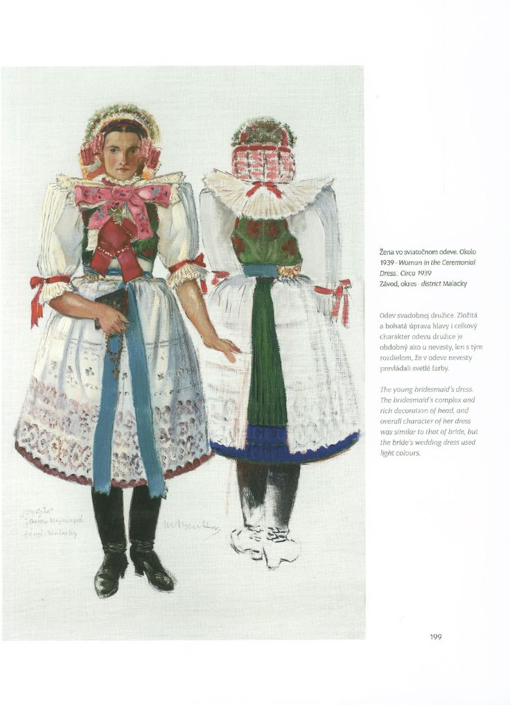 Bride's costume from Malacky district, Slovakia.