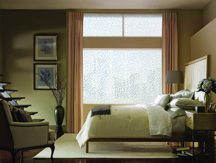 Hunter Douglas Skyline Gliding Window Panels Harmonize With Designer Screen  Shades And Designer Roller Shades