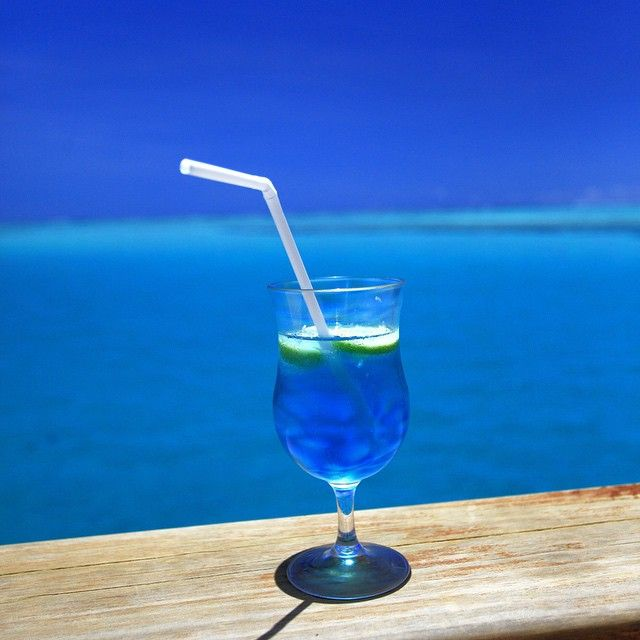 """""""The skilled bartender made the cocktail the exact same colour as the water"""" one of our guests commented!"""