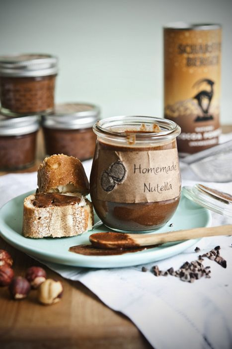 homemade nutella (haven't heard of half of the ingredients, but they still sound healthier than the store-bought Nutella ingredients)