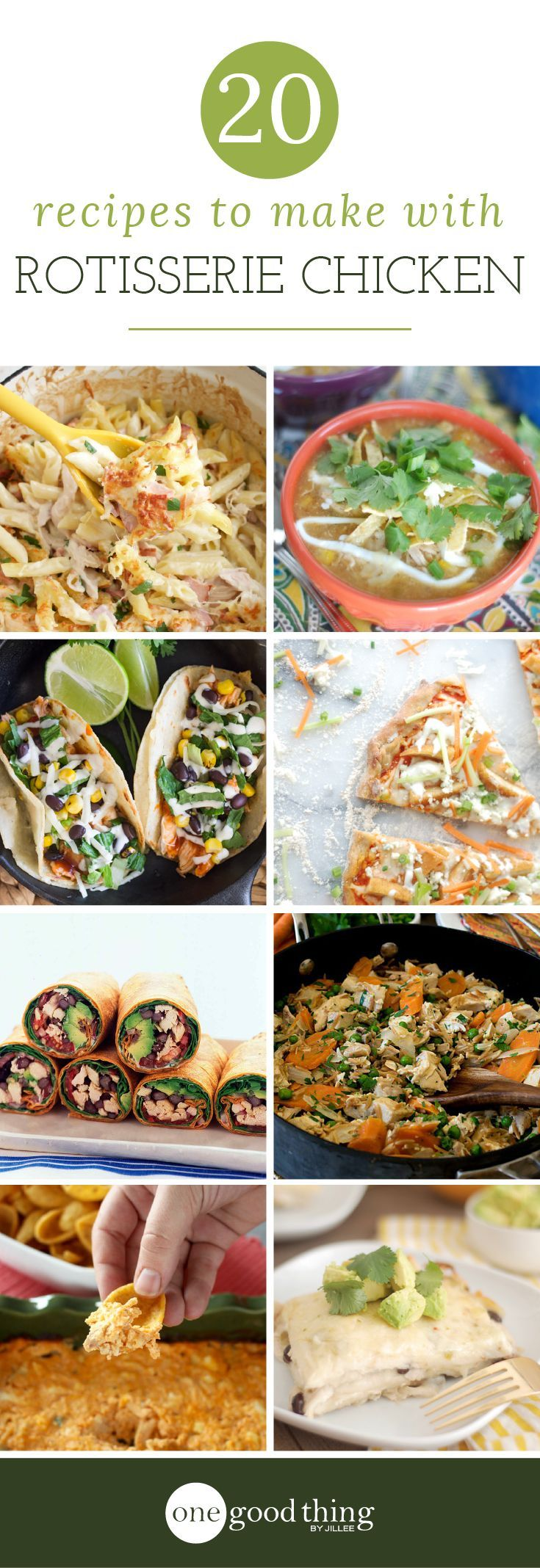 20 Quick Recipes You Can Make With Rotisserie Chicken - One Good Thing by Jillee