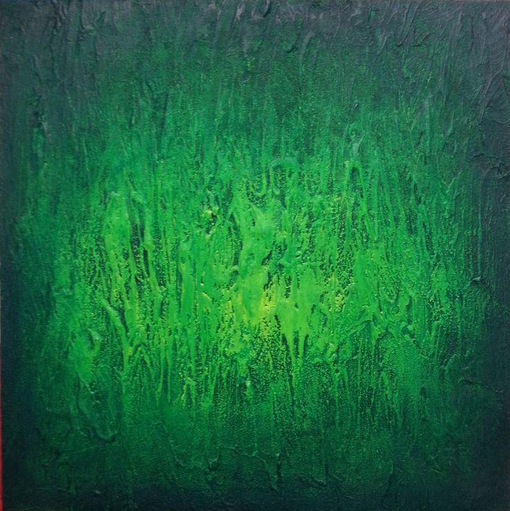 """Verde - bosco"" - tecnica mista su tela, 60x60cm Per info: Roberta Recanatesi, www.robertarecanatesi.com - robyrer@libero.it"