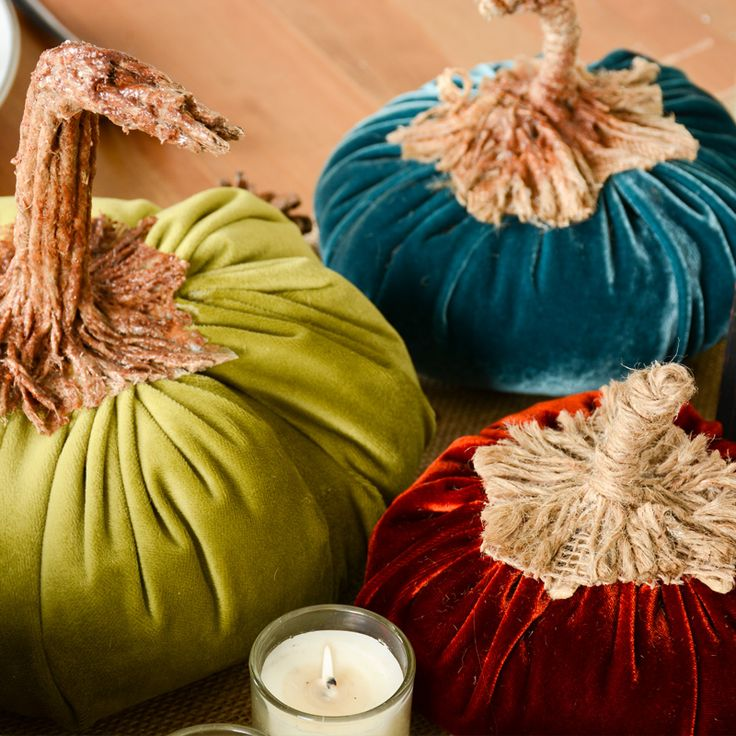 Cute Diy Home Decor Ideas: How To Make Velvet Pumpkins
