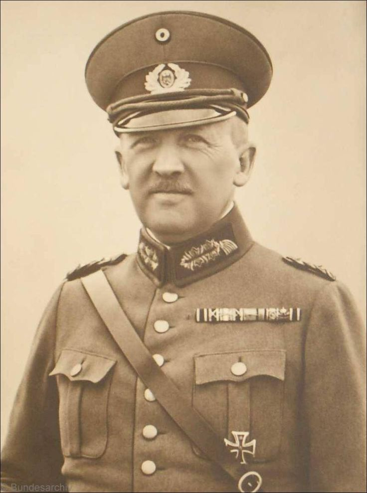 Major General Kurt von Schleicher (1882 - 1934); 1926-1929 Chief of the Armed Forces Division in the Ministry of Defense; 1929-1932 Chief of Ministers Office in the Defense Ministry; Defense Minister 1932-1933 1932-1933 Chancellor. Von Schleicher and his wife were murdered on 30 June 1934 by an SS commando during the Night of the Long Knives.