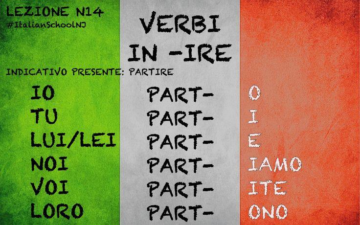Italian grammar - presente indicativo -ire