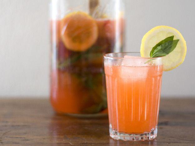 Drinking in Season: Strawberry Basil Lemonade | Serious Eats: Drinks