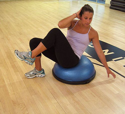 Bosu Ball Side Hops: 21 Best Images About BOSU Ball Workouts On Pinterest