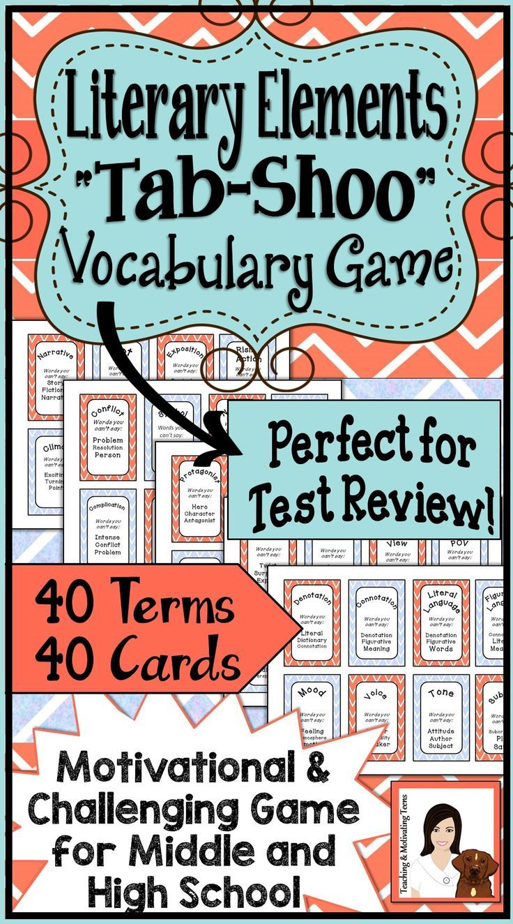 Literary Elements Review Games (ID: 3786)