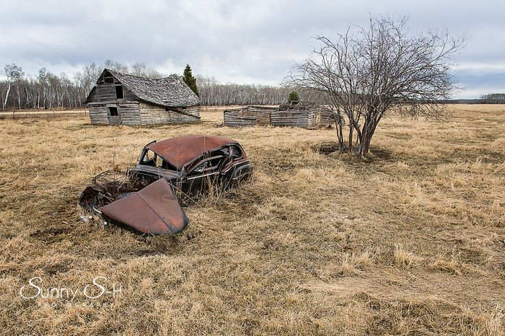 Abandoned farmyard in Manitoba.