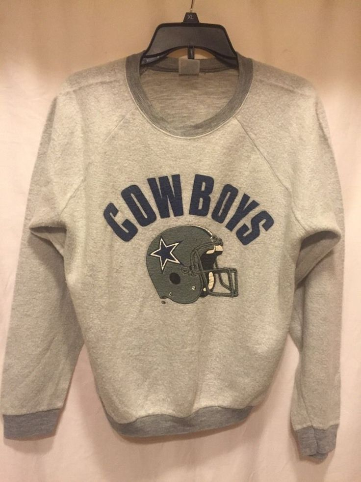 Vtg #Dallas Cowboys Helmet Sweatshirt By Garan - Adult Large L Super Soft from $29.99