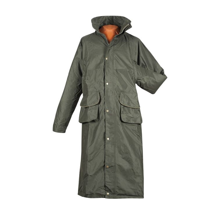 Rain Coat with hi-visibility surface - Hurricane ( Forest Green ) - Rain clothes | John Field - online shooting shop