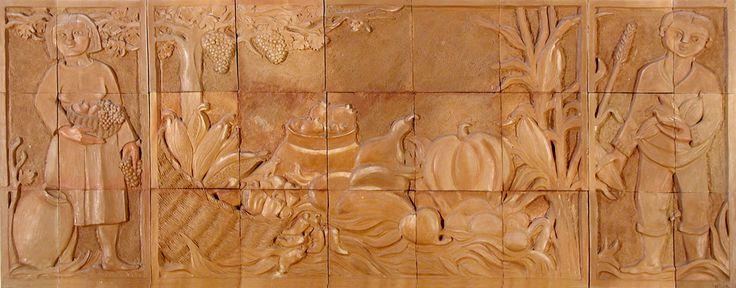 Alejandro Lavin - La Cosecha - Mural Terracota