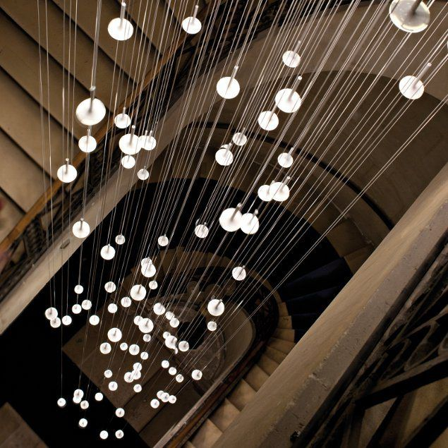 Luminaire d'escalier, suspension design, Irain, Blackbody, OLED