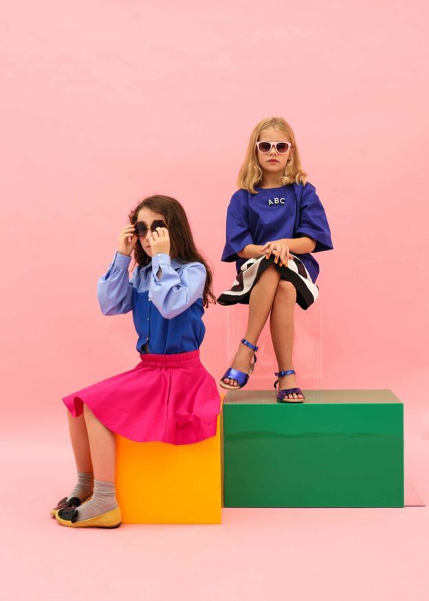 bold colours inspired by the pop art movement for new girlswear label carousel bazaar