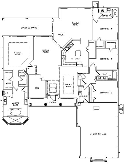 169 best images about dream floor plans on pinterest 3 for 3 car side load garage