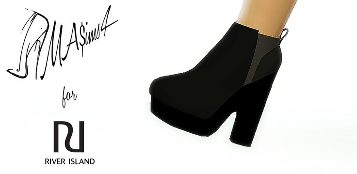 MA$ims 3: River Island 3D Boots THE SIMS 4