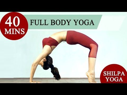 Total Body Yoga - 40 Mins Full Body Yoga Asanas - Shilpa's Yoga - http://47yoga.com/total-body-yoga-40-mins-full-body-yoga-asanas-shilpas-yoga/    Shilpa's Yoga' is a unique way of life which integrates the body, mind and soul, under the guidance of none other than the beautiful actress and stunning Shilpa Shetty herself. Watch Shilpa Shetty as she demonstrates the various Yogic Postures, Breathing Techniques and Asanas. The video contains:- 35 Asanas (Postures)