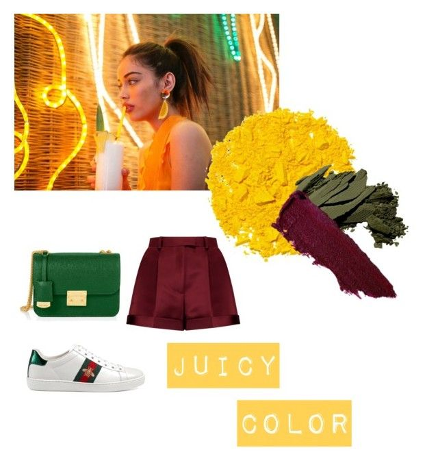 Color pallet by bintangghaisani on Polyvore featuring polyvore, fashion, style, Valentino, Gucci, Henri Bendel, Illamasqua, Bobbi Brown Cosmetics and clothing