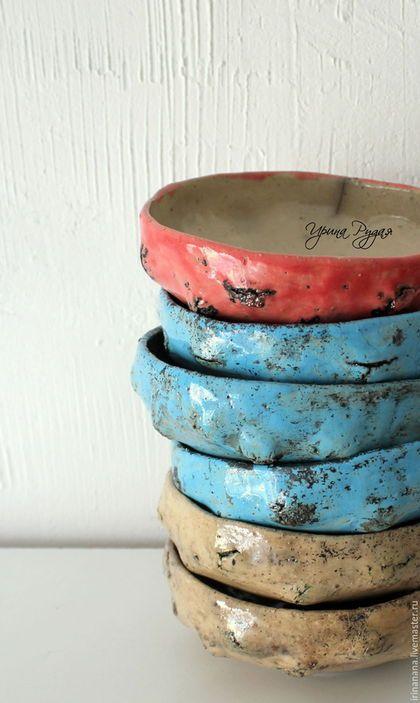 """Тарелки ручной работы. Керамические чаши """"Чувства"""". Авторская керамика.Irinanana. Ярмарка Мастеров. Телесный, ирина рудая, уютный дом"""