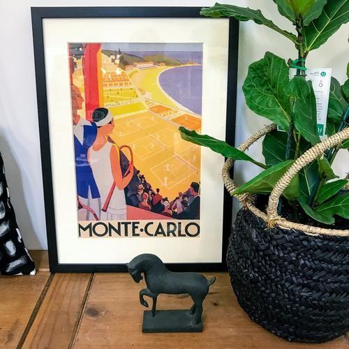 Vintage Poster print of Monte Carlo.