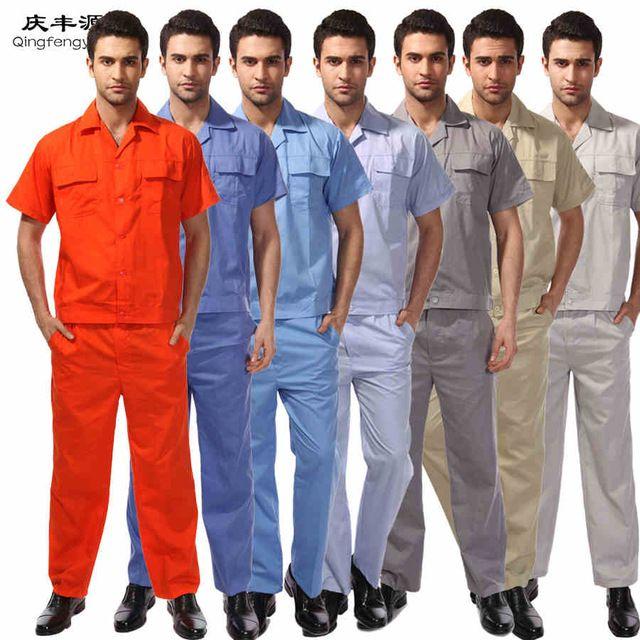 Mechanic Overalls Men Factory Uniforms tops long pants Working clothes Big Size Suit Sets Men Coveralls