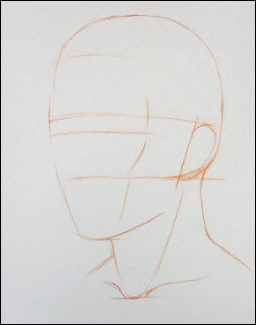 How to Draw a Portrait in Three Quarter View, Part 3