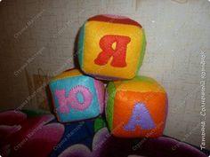Игрушка Мастер-класс Шитьё Кубики из фетра Фетр фото 1