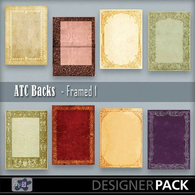 For ATC lovers. 8 Backgrounds ready sized for you. [2.5 x 3.5 inches] NB These are NOT fullsized scrapbook papers. This set are based on vin...